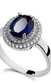 Ringe Andre Mode Personaliseret Euro-Amerikansk Daglig Afslappet Smykker Legering Ring 1 Stk.,16.0 17 18 19 Sølv Blå