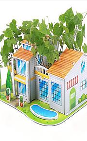puslespil 3D-puslespil Pædagogisk legetøj Byggesten Gør Det Selv Legetøj Hus Papir Regnbue Model- og byggelegetøj