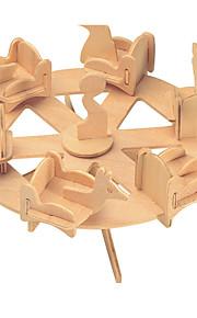 Palapelit DIY-setti Rakennuspalikat 3D palapeli Opetuslelut Palapeli Puiset palapelit Rakennuspalikoita DIY lelutPyöreät Kuuluisa