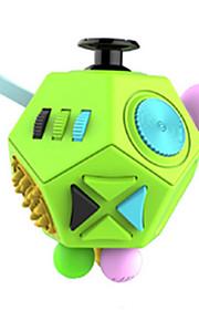 Brinquedos Cubo Macio de Velocidade Cube Fidget Novidades Alivia Estresse Cubos Mágicos Arco-Íris Verde Plástico