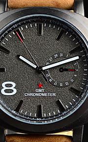 Relógio Esportivo Relógio de Moda Quartzo Couro Banda Marrom marca