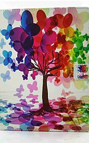 Für Kreditkartenfächer Stoßresistent mit Halterung Magnetisch Hülle Handyhülle für das ganze Handy Hülle Baum Hart PU - Leder für Apple
