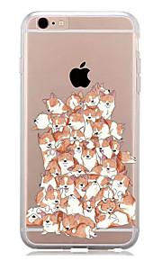 För Mönster fodral Skal fodral Hund Mjukt TPU för AppleiPhone 7 Plus iPhone 7 iPhone 6s Plus/6 Plus iPhone 6s/6 iPhone SE/5s/5 iPhone 5c