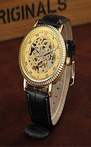 Masculino Relógio Elegante Relógio Esqueleto Relógio de Moda relógio mecânico Automático - da corda automáticamente Couro BandaPendente