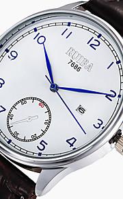 Unissex Relógio Esportivo Relógio de Moda Quartzo Couro Banda Preta Marrom