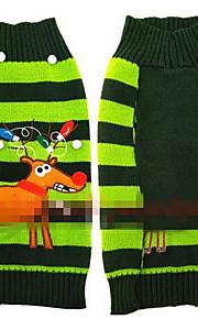 개 코트 그린 강아지 의류 겨울 동물 귀여운 캐쥬얼/데일리