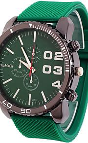 Masculino Relógio Esportivo Relógio de Moda Quartzo Couro Banda Azul Marrom Verde Marron Verde Azul