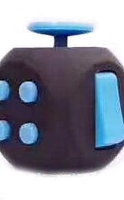 Brinquedos Cubo Macio de Velocidade Cube Fidget Novidades Alivia Estresse Cubos Mágicos Preta Azul Plástico