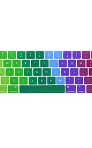 XSKN® English Colorful Silicone Keyboard Skin and Touchbar Protector for 2016 Newest MacBook Pro 13.3/15.4 with Touch Bar Retina (US Layout)