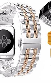 fjäril länk band av rostfritt stål watch band för äpple Watch Series 2/1