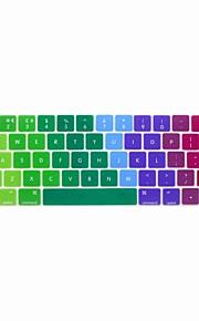 xskn® europeiska engelska färgrik silikon tangentbord huden och pekfältet skydd för 2016 nyaste MacBook Pro 13,3 / 15,4 med touch bar