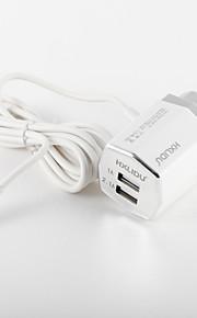 Caricabatterie portatile Per cellulare Per tablet 2 porte USB Presa EU