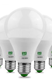 9W E26/E27 LED-globepærer 18 SMD 5730 700-850 lm Varm hvit Kjølig hvit Dekorativ DC 12 AC 12 AC24 DC 24 V 5 stk.