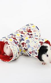 petits animaux tunnel jouet lit pour les rongeurs de lapin de couleur aléatoire