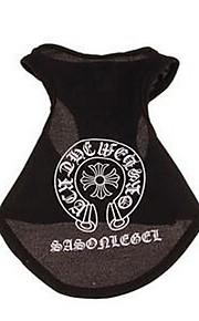 개 티셔츠 강아지 의류 여름 프린세스 귀여운 캐쥬얼/데일리 블랙