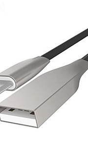 USB 2.0 Piatto Cavi Per Samsung Huawei Sony Nokia HTC Motorola LG Lenovo Xiaomi 100 cm PVC Alluminio