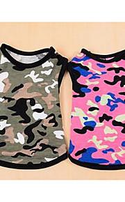 개 티셔츠 강아지 의류 여름 솔리드 귀여운 캐쥬얼/데일리 핑크 미채색