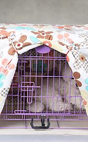 cane gatto fiore rivestimento in tessuto multicolor gabbia