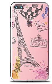 För Genomskinlig Mönster fodral Skal fodral Ord / fras Eiffeltornet Mjukt TPU för AppleiPhone 7 Plus iPhone 7 iPhone 6s Plus iPhone 6