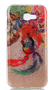 For Samsung Galaxy A3(2017) A5(2017) Double IMD Case Back Cover Case The Butterfly And The Wolf Dream Catcher Pattern Soft TPU A7(2017)