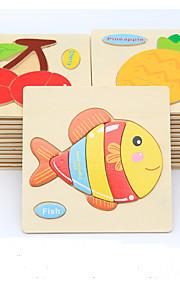 Quebra-cabeças Kit Faça Você Mesmo Brinquedo Educativo Quebra-Cabeças de Madeira Blocos de construção Brinquedos Faça Você Mesmo Peixes 1