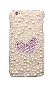 För Strass GDS (Gör det själv) fodral Skal fodral Glittrigt Hjärta Mjukt TPU för AppleiPhone 6s Plus iPhone 6 Plus iPhone 6s iPhone 6
