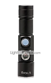 U'King 2 in 1 3Modes 1500LM LED 2Modes Red Light Zoomable USB Mini Flashlight Built-in Rechargable Battery Charge Anywhere