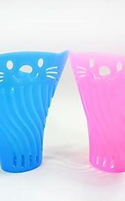 Katt Hund Matbehållare Husdjur Skålar och matning Bärbar Blå Rosa
