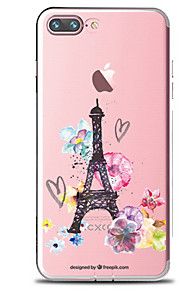 För Genomskinlig Mönster fodral Skal fodral Blomma Eiffeltornet Mjukt TPU för AppleiPhone 7 Plus iPhone 7 iPhone 6s Plus iPhone 6 Plus