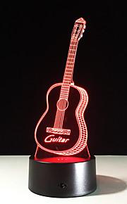 nieuwe action figure 7 kleuren gitaar 3D visuele led nachtverlichting als slaapkamer tafellamp beste cadeaus voor kinderen vrienden acryl