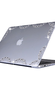 For MacBook Air 11.6 13.3 Pro 13.3 Case Cover with Pattern Rhinestone PC Hard Protective Shell Matte Transparent