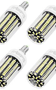 8W E14 LED-maïslampen T 136 SMD 5733 700 lm Koel wit AC 220-240 V 4 stuks