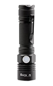 U'King CREE XPE LED 1500LM 3Mode Flashlight Torch with Clip