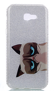 For Samsung Galaxy A3(2017) A5(2017) Double IMD Case Back Cover Case Cat pattern Soft TPU A7(2017)