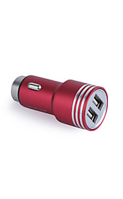 Aluminum Alloy Safety Hammer Quick Charge 2 USB Ports Phone  Car Charger Adapter Quick Charging 5V 3.1A   for Samsung Xiaomi