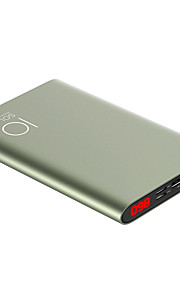 SOLOVE 10000mAh power bank  2.4A external battery Multi-Output with Cable