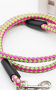 Hundar Koppel Justerbara/Infällbar Solid Tyg Grön Rosa