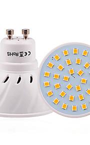 3W GU10 GU5.3(MR16) E26/E27 Точечное LED освещение 36 SMD 2835 200-300 lm Тёплый белый Холодный белый Естественный белый Декоративная V1