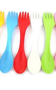 Plast Middagsgaffel Sukkerskje Skjeer Gafler Kniver