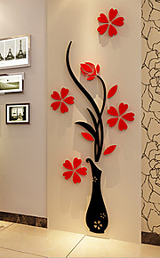 Acrylic Wall Stick The Plum Flower Wall 3 d Three-dimensional Creative Crystal Wall TV Setting Wall 60*150Cm