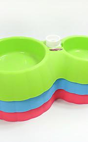 Katze Hund Schalen & Wasser Flaschen Futter-Vorrichtungen Haustiere Schüsseln & Füttern Tragbar Grün Blau Rosa