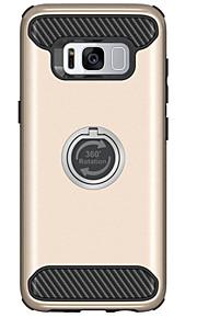 Para Antigolpes con Soporte Funda Cubierta Trasera Funda Un Color Dura Policarbonato para Samsung S8 S8 Plus S7 edge S7