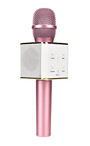 Q7 Sem Fios Microfone de Karaoke USB Preto Rosa Dourado