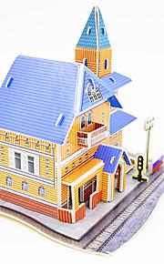 Puslespill 3D-puslespill Byggeklosser GDS-leker Arkitektur Papír Modell- og byggeleke