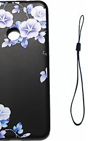 huawei p8 lite (2017) p10 케이스 커버 푸른 꽃 패턴 연료 분사 릴리프 도금 버튼 두꺼운 tpu 소재 전화 케이스 p10 라이트 p10 플러스