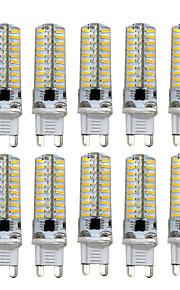 5W G9 G4 G8 GY6.35 LED-lamper med G-sokkel T 80 SMD 4014 400-500 lm Varm hvit Kjølig hvit Dimbar AC110 AC220 V 10 stk.