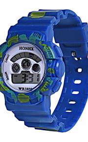 Infantil Relógio Esportivo Relogio digital Chinês Digital Silicone Banda Azul Vermelho Amarelo
