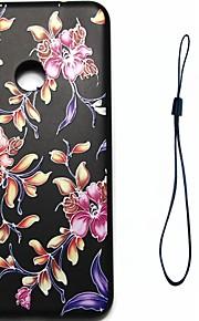 huawei p8 lite (2017) p10 케이스 커버 꽃 패턴 연료 분사 릴리프 도금 버튼 두꺼운 tpu 재료 전화 케이스 p10 라이트 p10 plus