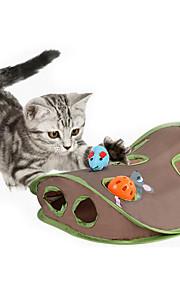Katteleke Leker til kjæledyr Interaktivt Mus Holdbar Klømatte Plastikk Stoff