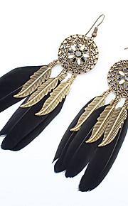 Øreringe sæt Smykker Mode Personaliseret Euro-Amerikansk Fjer Legering Smykker Smykker For Bryllup Speciel Lejlighed 1 Par
